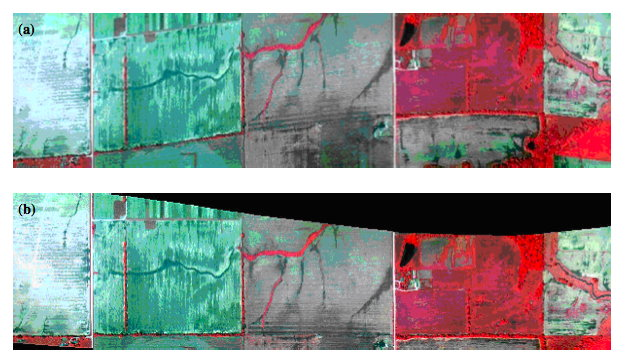 Hyperspectral image distortion correction