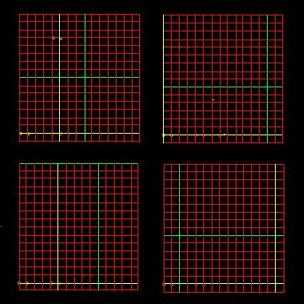 Grid over the DNA microarray image, multiple arrays.