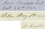 Abraham Lincoln's signatures.
