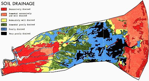 Soil drainage map.