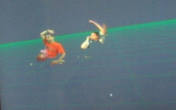 Shared virtual environment of the two basketball players